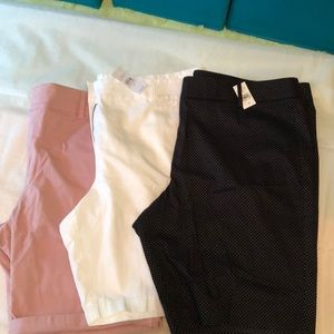 3 Pairs of LOFT Bermuda Shorts